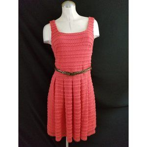 Guess Size 10 Coral Belted Dress